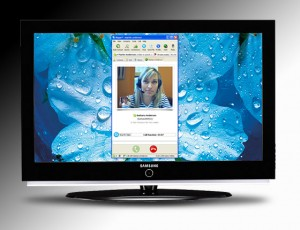 Samsung LED with Skype